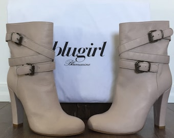Blugirl Stialetti Boots shoes women new ankle boots beige Blumarine Leather T750