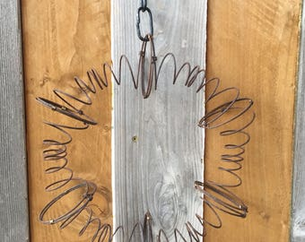 Rustic Rusty Bed Spring Wreath