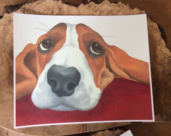 "beagle painting ""Apple"""