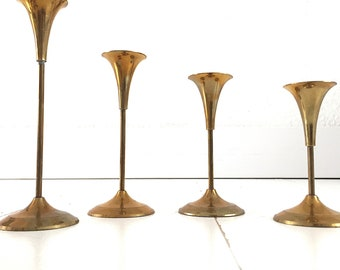 Boho Brass Candle Sticks