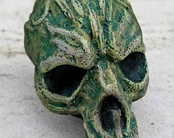 Skull sculptures.6 out of 19.monster skulls. halloween decor. resin figures. oddities.dark art. creepy sculptures. creature sculptures