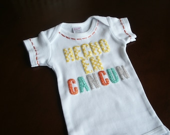 Baby Shower, Baby Gift, Baby Shower Gift, Made in Cancun, Hecho En Cancun, Funny Shirt, Baby Girl, Baby Boy, Unique Baby Gift, New Baby Gift
