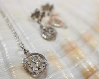 18 18th Birthday Necklace and Earrings Set  Silver Metal Earwires and 925 Chain Necklace