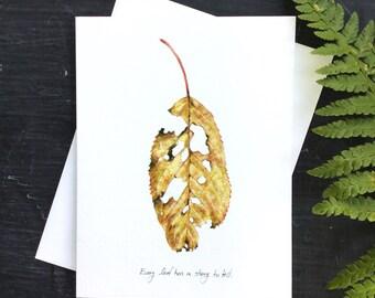 Fall leaf - Greeting Card