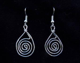Swirly Drop Earrings - Handmade