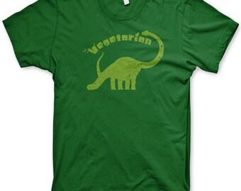 Vegetarian Dinosaur t-shirt dino veggie shirt