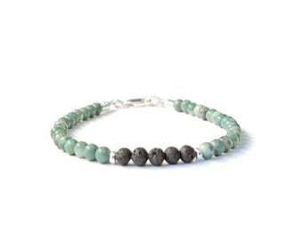 Ching Hai Jade Essential Oil Diffuser Bracelet, Aromatherapy Jewelry