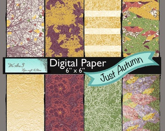 We Are 3 Digital Paper, Just Autumn, Fall