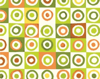 Half Yard Mischief  - Blocks in Green - Little Boy Fabric Line Designed by Nancy Halvorsen for Benartex (w889)
