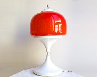 SALE AMAZING Mid Century Lamp, Modern Lamp, Retro Lamp, Red Lamp, Mushroom Lamp, Italian Lamp, Retro Decor