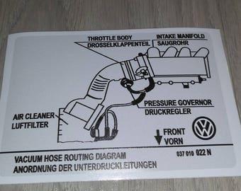 VW sticker 037010022N VAG Part