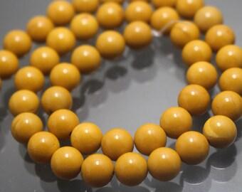 Mookaite beads,Yellow Jasper Gemstone Round Beads,Smooth Gemstone Beads,6mm 8mm 10mm 12mm Yellow Jasper Gemstone Beads,15 inches 1 strand