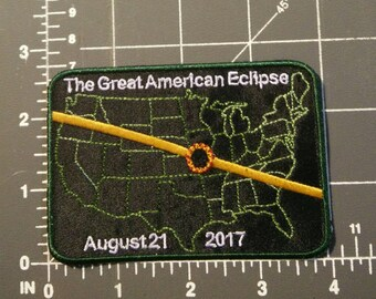 The Great American Eclipse Patch / iron on / embroidery / 2017 Eclipse / FREE U.S. SHIPPING