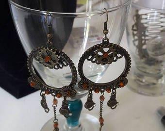 Big earrings steampunk #2