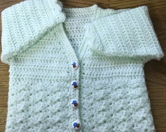 PDF Instant Download Baby Crochet Cardigan Pattern in DK. Sizes Birth to 6 years (1019)