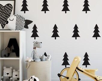 Wall Stickers - Decals - Fir Tree -  Pine Trees - Wall art - Wall Tattoo - Nutmeg Wall Stickers