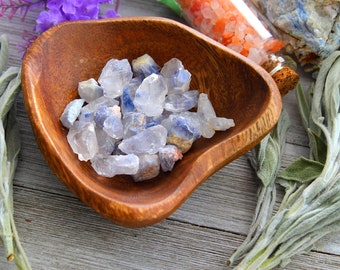 ONE Raw Dumortierite Rare Crystal Point, Throat Chakra Stone, Third Eye Chakra Healing, Meditation Rock, Gift For Her, Reiki Gemstone Gifts