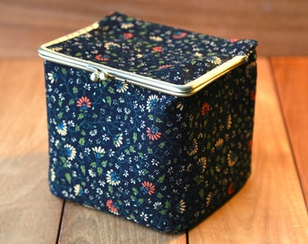 Large Cosmetic Bag Midnight Bloom (Cosmetic Case, Makeup Pouch, Travel Case)