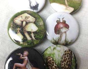 Satz von 6 (Pilz und Fairie) pins