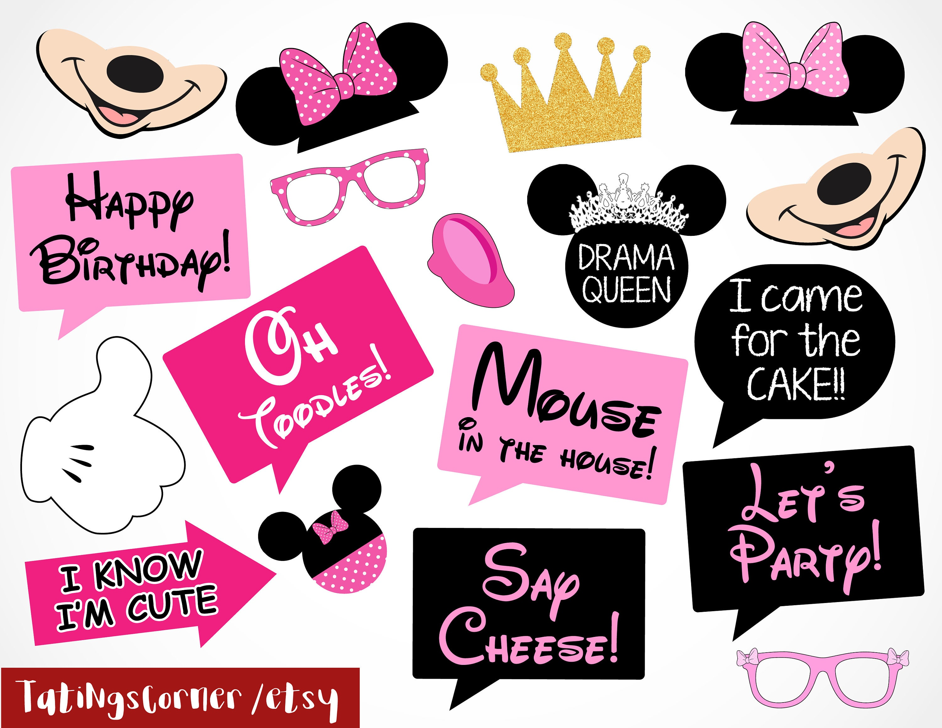 Modest image with regard to minnie mouse photo booth props printable