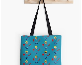 Cardi B Patterned Tote Bag