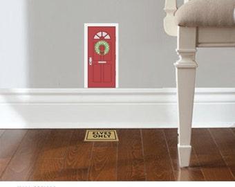 Christmas Elf Door - Decal accessory made from reusable vinyl