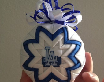 Dodgers christmas ornament