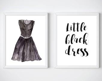 Little Black Dress | Little Black Dress Art | Black Dress | Fashion Wall Art | Fashion Art | Digital Print | Instant Download | Printable