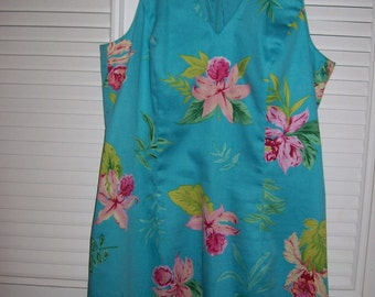 Dress 10, Island Shift Dress by Harold's Pink Orchids For You In this Summer Sundress 8 - 10