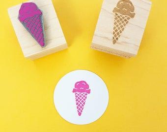 Delicious Ice Cream Rubber Stamp - Gelato Sundae Rubber Stamp - Retro Diner Rubber Stamp - 50s rubber stamp - Seaside  - Ice Cream Cone