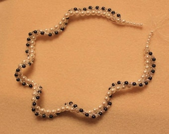 Design sheet for Twisted Pearl necklace