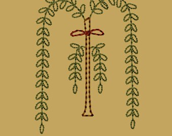 MACHINE EMBROIDERY-Dream-Willow Tree-4X4-Colorworks-Instant Download