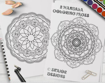 Mandala Coloring Pages Relaxation Coloring Printable Adult Coloring Pages Detailed Henna Coloring Pages Yoga Coloring Meditation Coloring 01