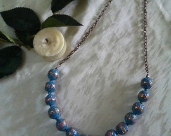 Recycle Vintage Beads  Necklace
