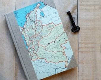 Map Travelers Sketchbook World Map Journal Custom Journal Travel Map Journal Travel Notebook Travelers Journal Travel Journaling Travel Gift