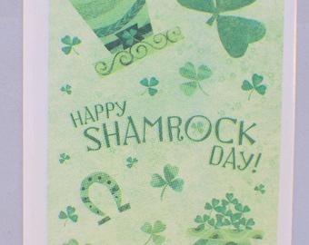 Hallmark Cards Heartline Happy Shamrock Lucky Irish St Patty's Day Stickers