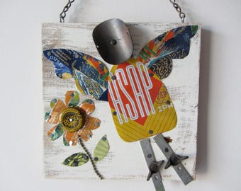 Recycled Mixed Media Angel