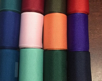 "1.5"" Grosgrain Ribbon Assortment, 20 rolls 1 yard each (20 yards total) Variety of Colors"