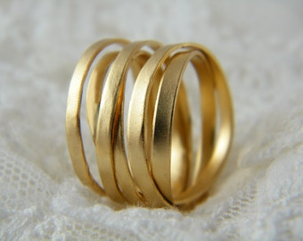 Wrapped ring gold handmade ring alternative wedding ring