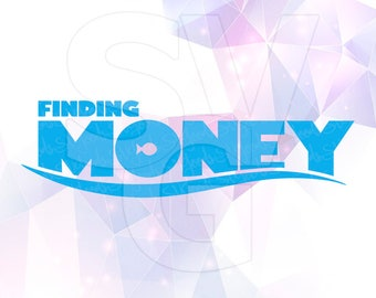 Finding Money Dory Logo Layered SVG DXF Png Cut File Disney Cartoon Party Decorations Cricut Designs Silhouette Cameo Stencil Scrapbooking
