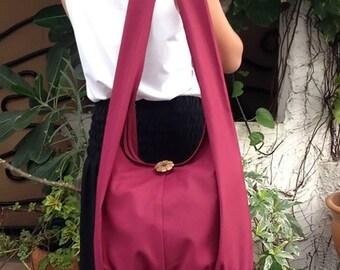 Handbags Canvas Bag Shoulder bag Sling bag Hobo bag Boho  bag Messenger bag Tote bag Crossbody Purse  Maroon