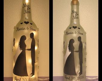 Wedding Wine Bottle Night Light