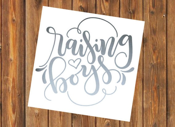 Free Shipping-Raising Boys, Boy Mom, Mom of Boys, Yeti Decal, Cooler, Yeti, Laptop, Back to School Sticker