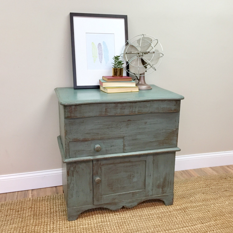 Antique Storage Cabinet - Primitive Cabinet - Bathroom Cupboard - Farmhouse  Nightstand - Side Table with Storage - Small Storage Cabinet - Antique Storage Cabinet - Primitive Cabinet - Bathroom Cupboard