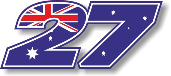 Vinyl Sticker Decal Riders Race Number Casey Stoner 27