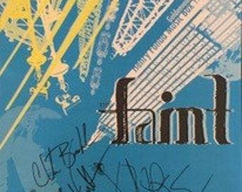 Faint Signed Concert Poster