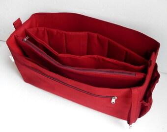XXL merlot Bag organizer for  Salvatore FerragamoTote Bag size 19Lx13H x7W- Purse organizer insert with zipper and laptop divider