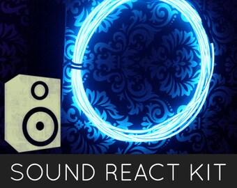 Lueur EL fil fluo Kit Cool (2m/6,5 ft) - son activé - Halloween, Burning Man, Shambhala, Rave, Festivals de musique, Costumes de lueur