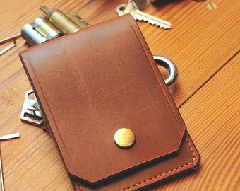 Slimline Lock Pick Case – Full Grain Leather