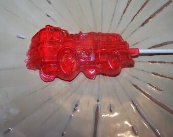 16 Feuer LKW Party gefallen Lollipop Sucker Candy